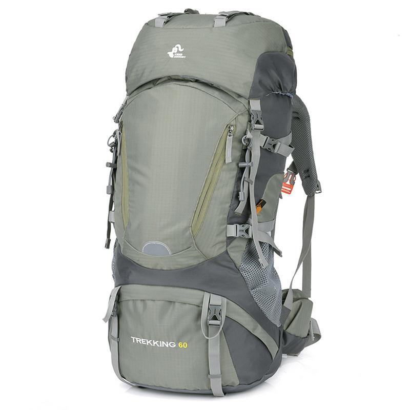 ccd297f24 Montañismo bolsa mochila 60L para senderismo Camping mochilas para enviar  protector de lluvia de las mujeres de los hombres al aire libre de viaje  mochila ...