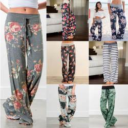 Ebay, Amazon Wish бандажные брюки для отдыха Европейская и американская мода свободные на шнуровке камуфляжные брюки с принтом акция