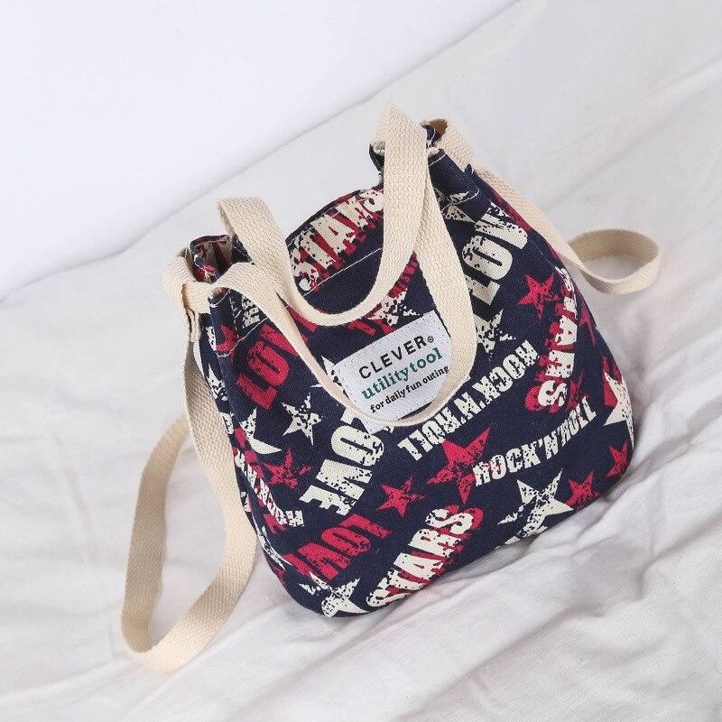 2019 New Canvas Handbags Portable Korean Fashion Printing Shoulder Crossbody Bags