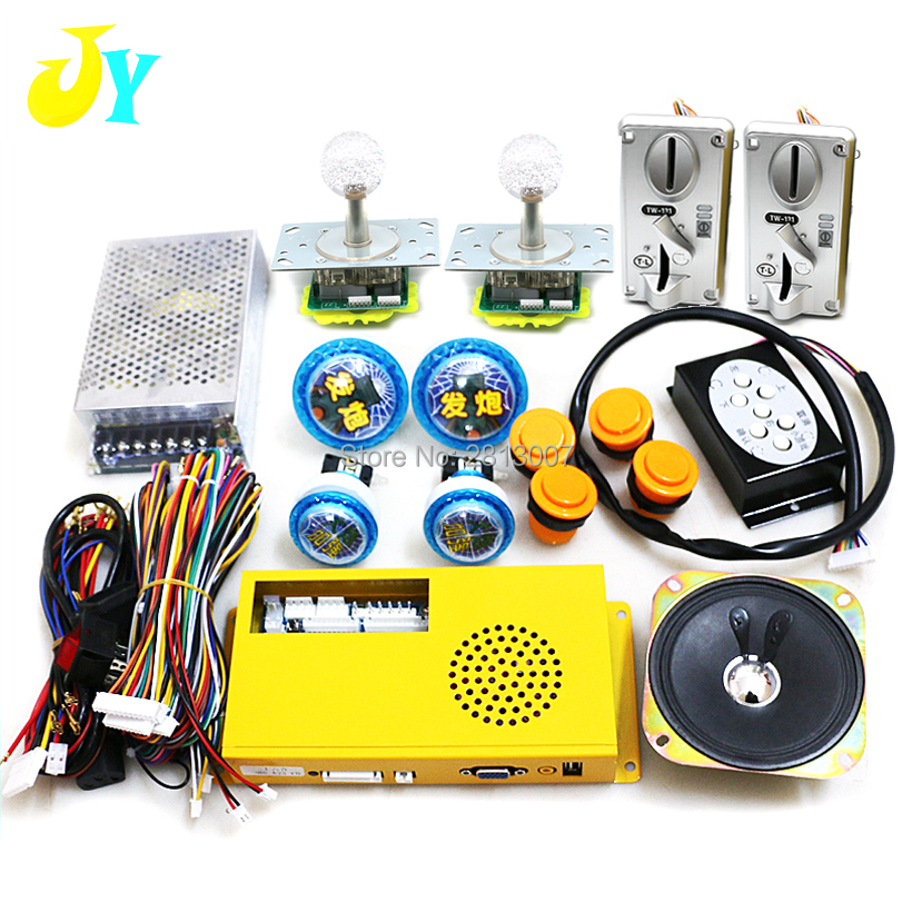2 players fishing game DIY kit 26 in 1 game PCB board coin acceptor joystick button
