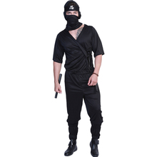 Ninja Costume Adult Black Ninja Cosplay Costumes Halloween Costume For Men  Carnival Adult Performance Party Suit все цены