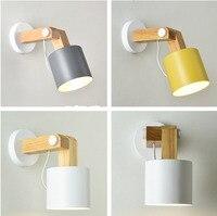 الشمال داخلي وحدة إضاءة LED جداريّة تركيب المصابيح الحديثة قابل للتعديل زاوية السرير الجدار الشمعدان مصباح خشبي غرفة المعيشة الديكور الإنارة-في مصابيح الجدار الداخلي LED من مصابيح وإضاءات على