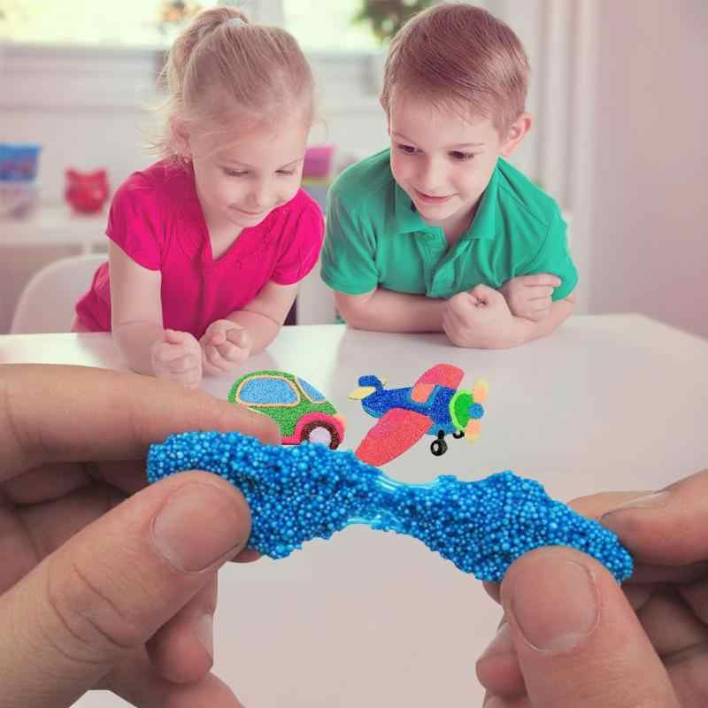 8 Colors /Set DIY Modeling Clay 2019 Kids Early Educational Toys Snowflake Mud Set Snow Mud Fluffy Floam Slime Anti-Stress Toy