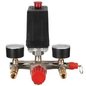 Image 5 - Compresor de aire de alta resistencia para Nuevo regulador, interruptor de Control de presión de bomba de aire de 4 puertos, válvula de Control de 7,25 125 PSI con manómetro