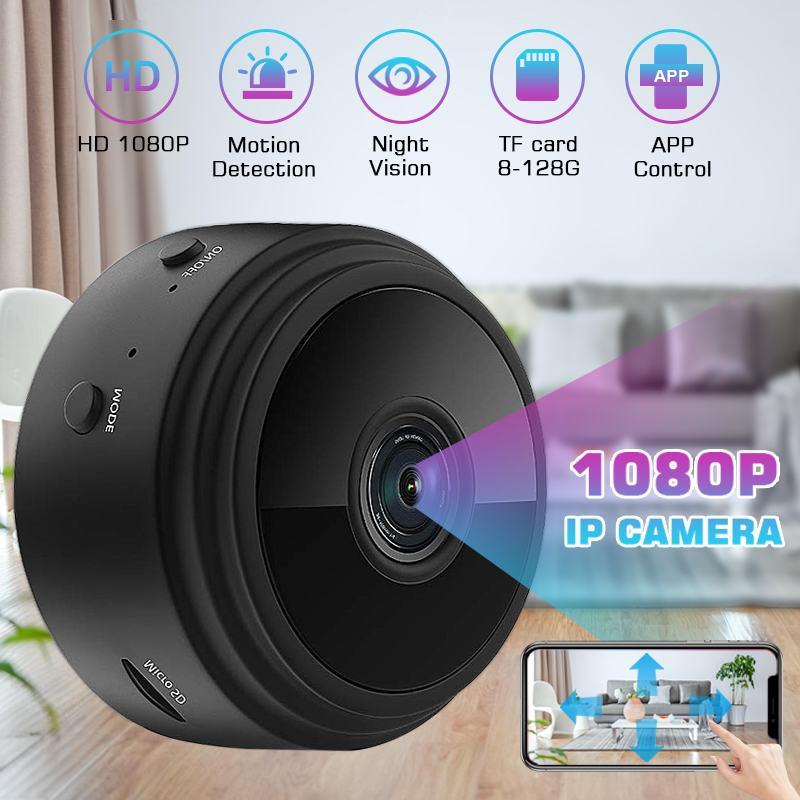 Security Wifi IP Camera 1080P HD Round Mini Camera Wired Wireless Night Vision Smart Home Video System Baby Monitor IP Cam HomeSecurity Wifi IP Camera 1080P HD Round Mini Camera Wired Wireless Night Vision Smart Home Video System Baby Monitor IP Cam Home