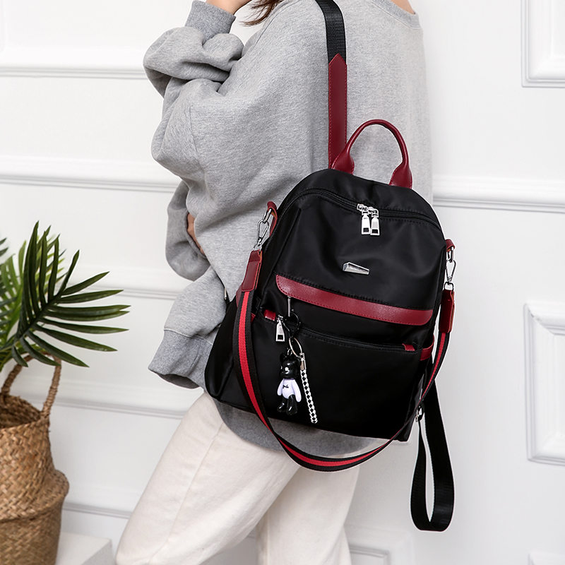 New Simple Style Women School Backpacks for Teenager Girls Waterproof Back Pack Anti theft Oxford Casual Travel Shoulder Bags in Backpacks from Luggage Bags