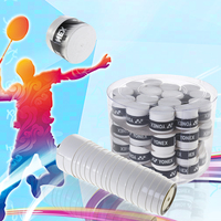 60Pcs Replacement Anti slip Racket Sweatband Overgrips Over Grips Tennis Badminton Squash Racquet Tape Grips Accessories