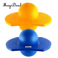 2 PCS Kids Indoor & Outdoor Space Hopper Balance Board Jumping Bouncy Pogo Ball Playground Sports Exercise Fitness Toy