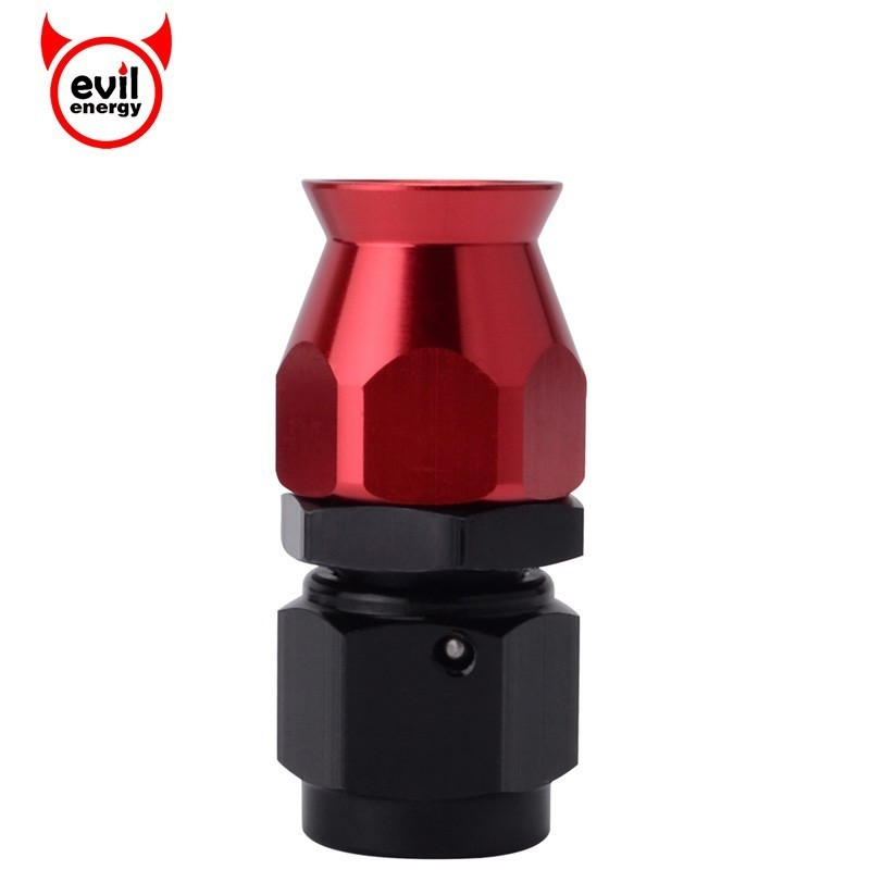 AN-6 AN Straight 45//90//180 Degree Swivel Hose End Fitting Black For Braided Hose