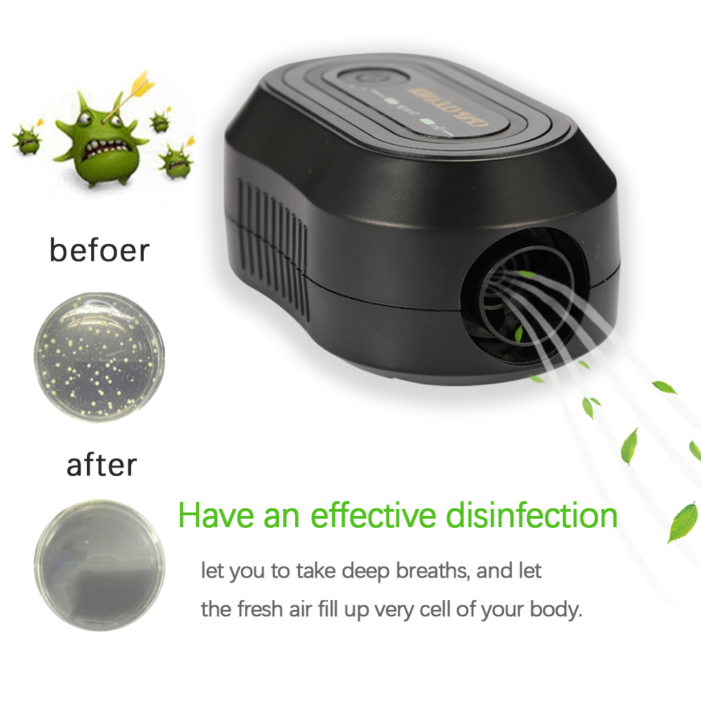 2200mAh CPAP Ozone Generator Ventilation Disinfector Sterilizer Air Purifier Air Disinfection Vegetable CPAP Cleaner USB Port
