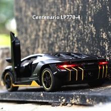 LP770 1:32 Lamborghini Car Alloy Sports Car Model Diecast Sound Light Super Racing Car Lifting Tail Hot Wheel For Children