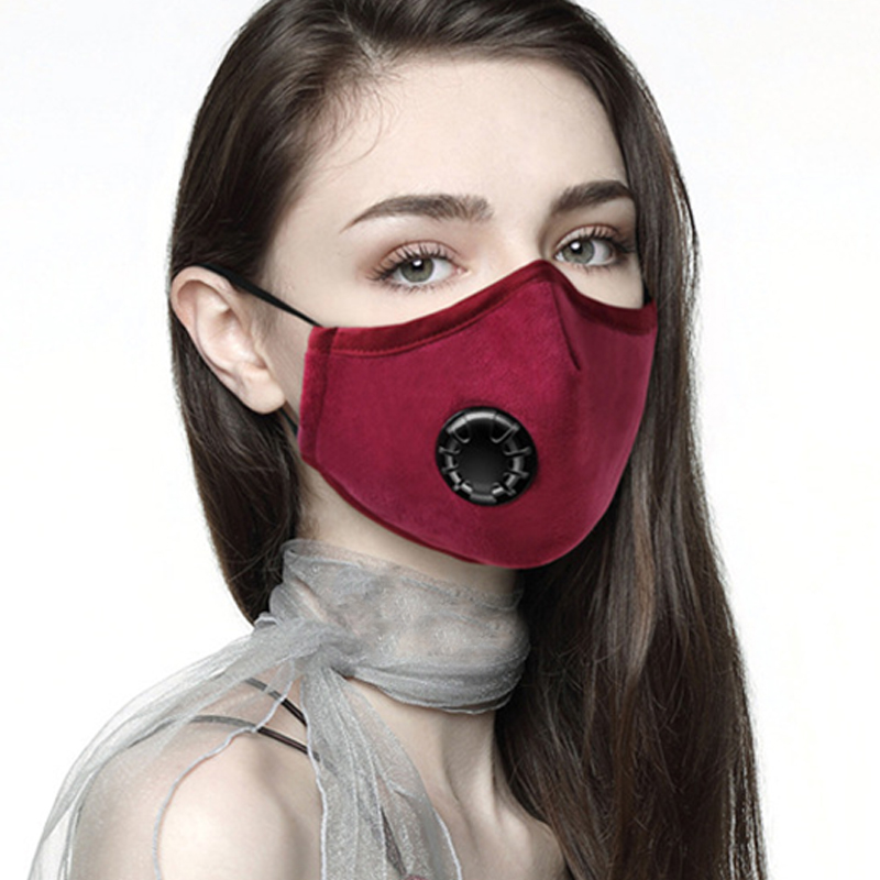 Women's Accessories Apparel Accessories Fashion Cotton Dust Respirator Mouth Muffle Unisex Washable Anti Pollution Reusable Masks For Cycling Travel