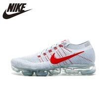 NIKE Air Vapormax Flyknit OG  White&red Mens Running Shoes Outdoor Sneakers 849557-060