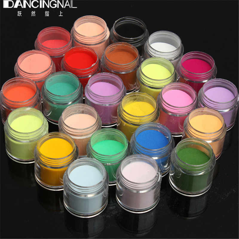 24 kleur Jumbo Fijne Glanzende Glitter Nail Art Kit Acryl UV Powder Dust Tip 3D DIY
