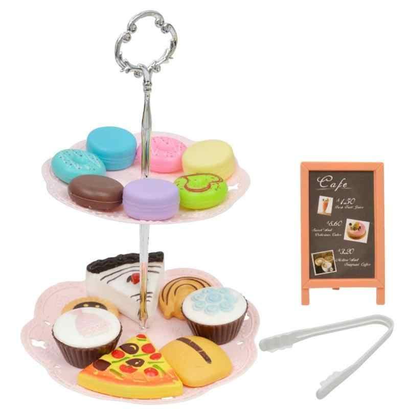 1 компл. дети девушка торт Пластик моделирование Печенье Десерт башня игрушка