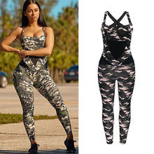 hirigin Sexy Women Sports Jumpsuit Yoga Outfit Camo Playsuit Running  Fitness Gym 0fe6e12de