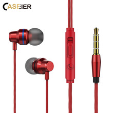 CASEIER In Ear Earphone with Mic Wired Gaming Music Sport Headset 2A Stereo Earphone For iPhone 6S 6 5 For Samsung Xiaomi Huawei luxury bling diamond earphone pearl necklace chain in ear earphone stereo with mic for iphone 6 6s samsung microphone