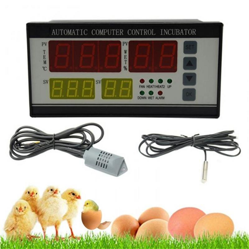 XM 18Z Egg Incubator Controller Thermostat Hygrostat Full Automatic Control With Temperature Humidity Sensor Probe