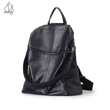 Fashion Women Genuine Cow Leather Bag Multifunction Black Backpack School Shoulder Backpacks Mochila Bags High Quality Maidy casual travel cowhide leather women multifunction backpack shoulder large backpacks mochila school bags teenagers designer maidy