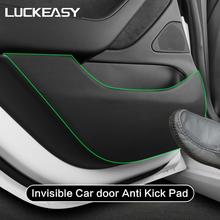 LUCKEASY for Tesla Model 3 2018 2019 Invisible Car door Anti Kick Pad  Protection Side Edge Film Protector Stickers