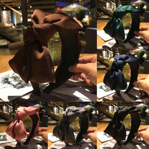 Модная женская повязка на голову с большим бантом, мягкая Заколка-Твистер, повязка на голову, повязка на голову, обруч для волос