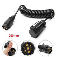 200cm 7Pin Trailer Light Board Extension Cable Lead Male to Female Trailer Truck Couplings Circuit Plug Socket
