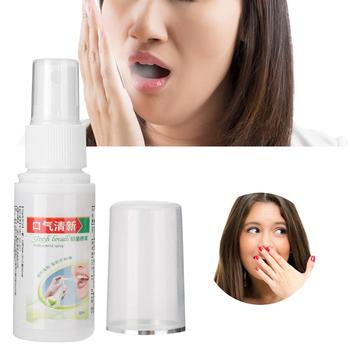 Oral Hygiene Care Bad Breath Odor Herbal Mouth Freshener Antibacterial Spray 30ml 1