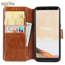 KISSCASE Wallet Phone Case For Samsung Galaxy S9 S8 Plus S7 S6 Edge Flip PU Leather Cases Note 8 Funda