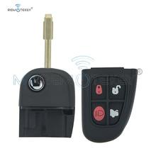 remtekey flip remote key fob for jaguar x s xj xk nhvwb1u241 4 button 434mhz Remtekey 1X43 15K601 AE Flip remote key shell case cover for Jaguar X S XJ XK NHVWB1U241 FO21 profile 4 button