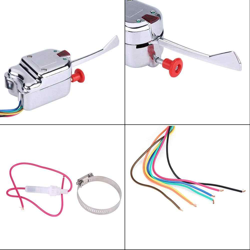 12v universal street hot rod chrome turn signal switch for ford g m  buick heavy duty vintage