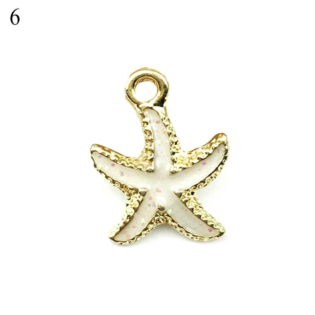 13 sztuk muszla morze wisiorek z muszli DIY piękna biżuteria dokonywanie akcesoria do rękodzieła naszyjnik artystyczny kołnierz biżuteria prezent na boże narodzenie