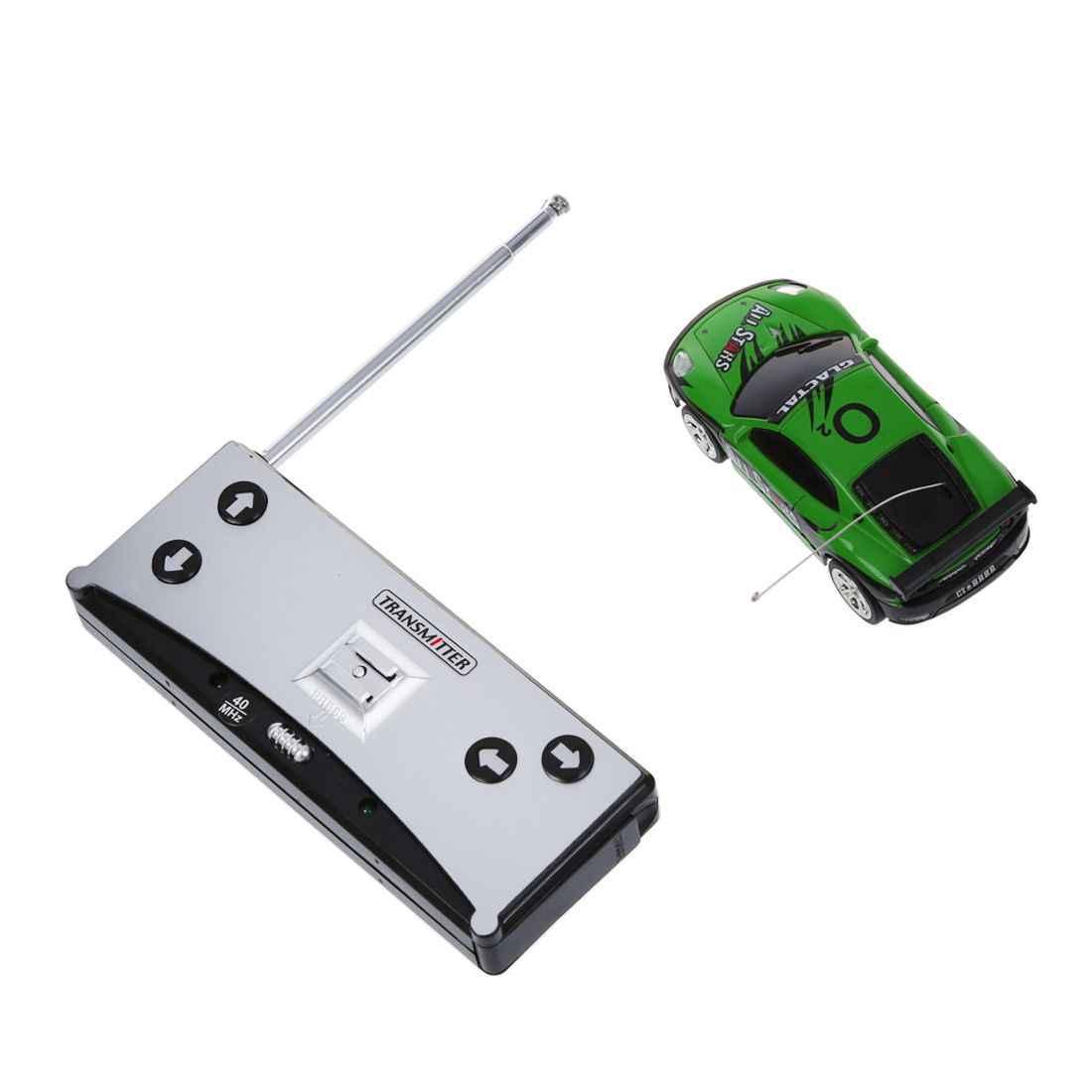 Hot AMS-Mini RC Remote Control Mobil Balap Mobil Mainan Dalam Minuman Dapat 1:58 (Hijau) Baru