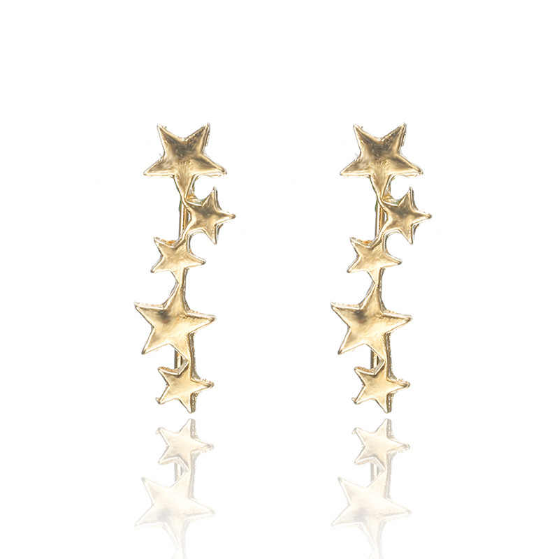 2019 latest design brand earrings female models five stars earrings gifts for women