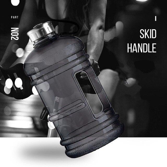 Soffe-bouteille deau de 1/2 gallons | Bouteille sans Bpa grand Capcity de 2,2l bouilloire de Sport en plastique protéine poignée, bouilloire de Fitness