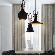 Lámpara colgante Vintage de aluminio estilo Loft, lámpara colgante de suspensión para la sala de Mesa de la cocina, lámpara colgante de iluminación interior