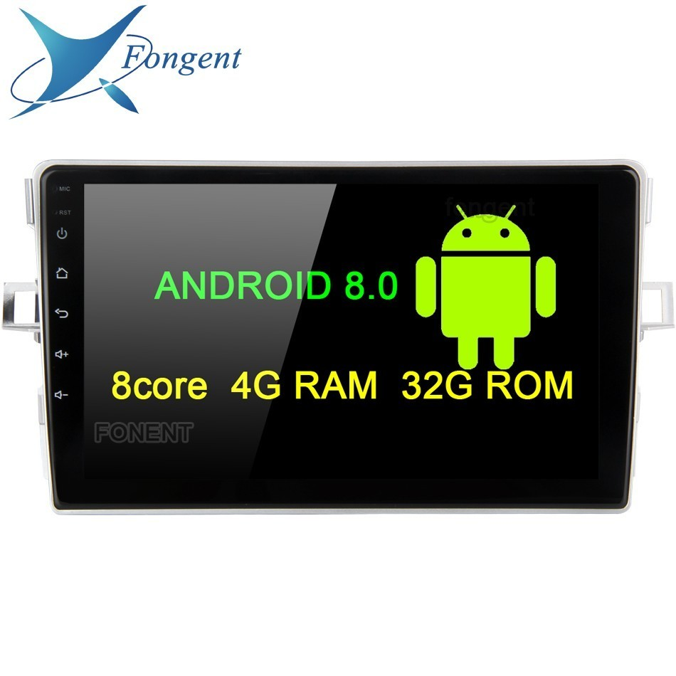 Android Unit Multimedia Radio Player for Toyota Verso EZ Radio 2007 2008 2009 2010 2012 2013 2014 2015 2016 Stereo Autoradio GPS фаркоп aragon toyota verso 2009 2013 2013 2016
