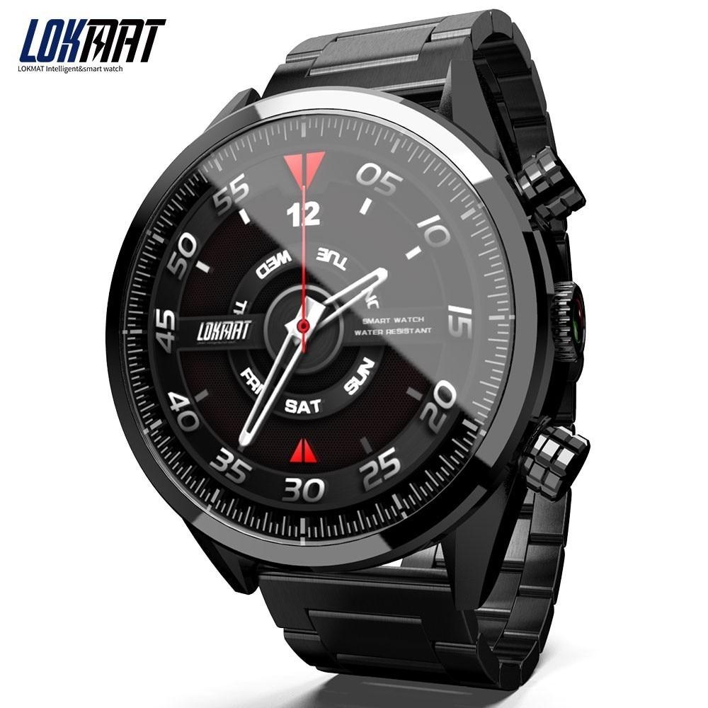 Nouvelle montre intelligente LOKMAT LK08 4G Android 7.1 MTK6739 3 GB + 32 GB 400*400 AMOLED écran 610 mAh batterie Smartwatch GPS Smartwatch hommes