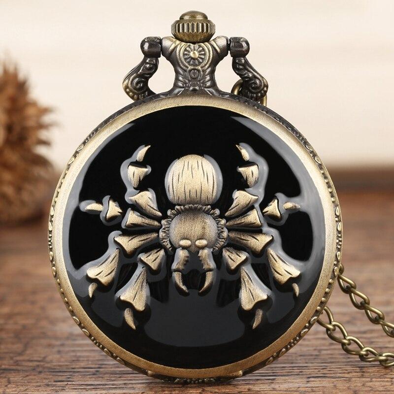 Hot Game The Legend Of Zelda Theme Quartz Pocket Watch Scorpion Spider Pattern Pendant Retro Bronze Chain Clock Creative Gifts