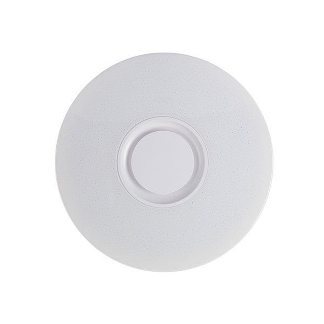 LICG-60W Rgb Flush Mount Round Starlight Music Led Ceiling Light Lamp With Bluetooth Speaker, Dimmable Color Changing Light Fi