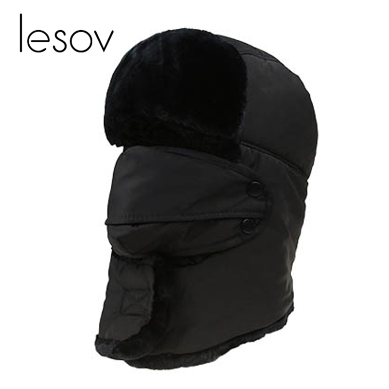 Men's Hats Men's Bomber Hats Tireless Lesov Waterproof Balaclava Earflap Bomber Hats Warm Neck Hooded Collar Scarf Men Women Russian Trapper Hat Trooper Snow Ski Cap With Traditional Methods