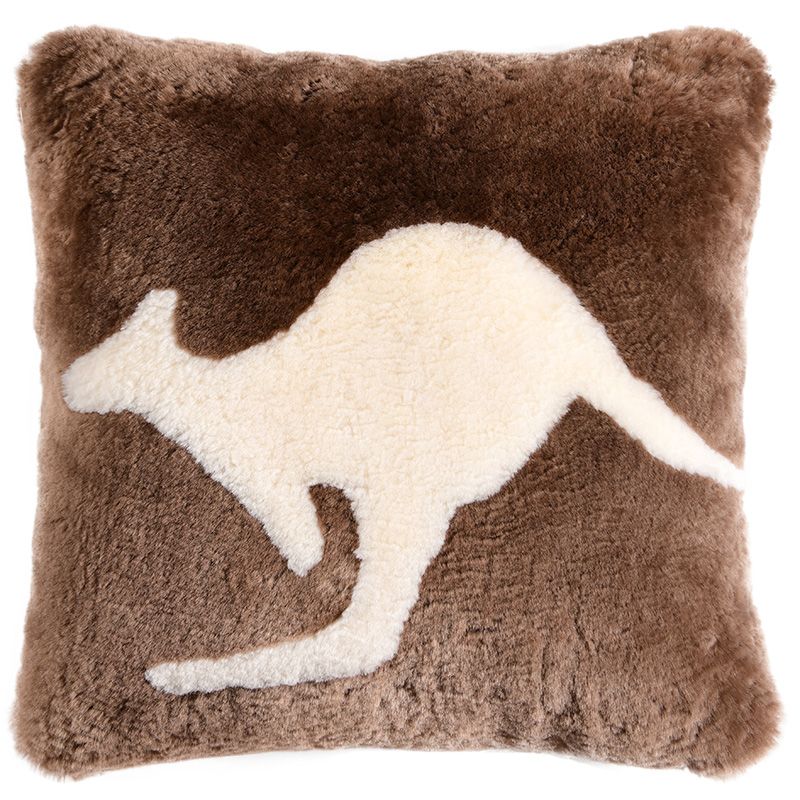 Constructive Aozun 100% Sheepskin Cushion Kangaroo Pattern European Style Sheep Fur Pillow For Sofa Seat Fluffy Fur Cushion For Home Decor To Prevent And Cure Diseases Home Textile Home & Garden