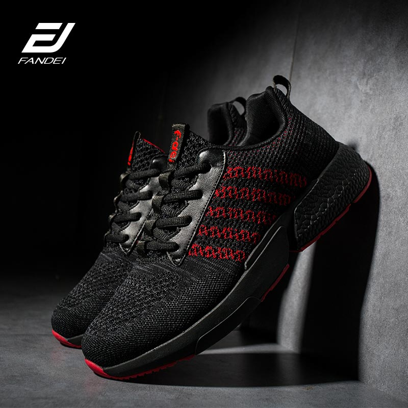 FANDEI Running Shoes For Men Zapatillas Hombre Deportiva Outdoor Men Sport Shoes Light Sneakers Lace-Up Non-Slip Trainers Male