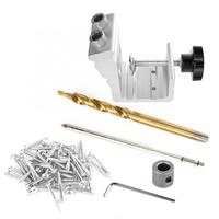 3 in 1 Wood Dowel Hole Jig Drill Bit Kit professional operation Woodworking Hole Locator Puncher