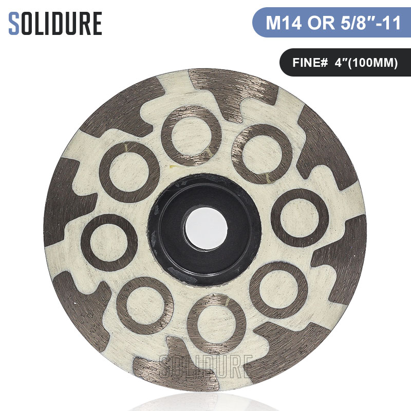 1pc/lot Fine 100# Resin Filled Diamond 4 Inch Cup Wheels Turbo Cup Grinding Abrasive Tools For Grinding Stone,concrete And Tiles