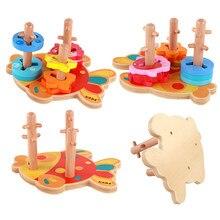279a3d3063 Form Sorter Geometrische Bord Block Stapel Art Chunky Puzzle Spielzeug  Bausteine Lernen Pädagogisches Spielzeug für Kinder Junge.