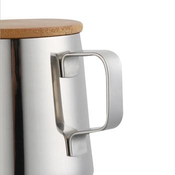 350Ml Long Narrow Spout Coffee Pot Gooseneck Kettle Stainless Steel Hand Drip Kettle Pour Over Coffee And Tea Pot With Wooden 3