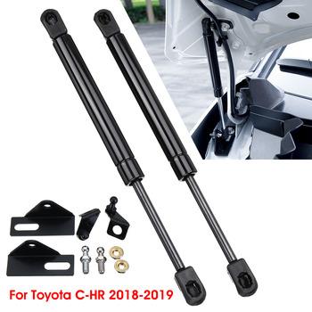 1 para samochodów przednia osłona silnika wsporniki podnośników rekwizyty ramię drążka sprężyny gazowe wstrząsy Strut bary dla Toyota CHR C-HR 2018 2019 tanie i dobre opinie 400g Strut Bars Front 26cm Steel