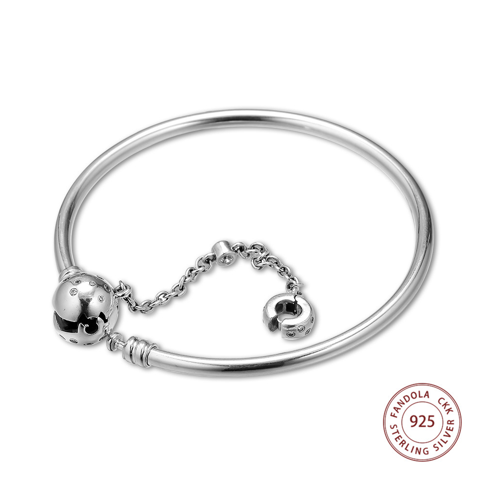 2019 New 925 Sterling Silver Limited Edition True Uniqueness Charm Bracelet Bangles for Women Silver 925 Jewelry Lovers Gift2019 New 925 Sterling Silver Limited Edition True Uniqueness Charm Bracelet Bangles for Women Silver 925 Jewelry Lovers Gift