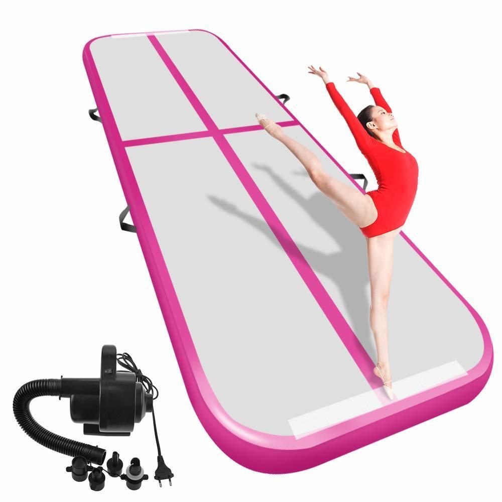 Inflatable Gymnastics Airtrack Tumbling Air Track 3M 4M 5M Floor Trampoline  Air Pump For Home Use/training/cheerleading/beach
