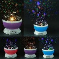 Gwiazdy Starry Sky LED lampka nocna obrotowy projektor księżyc akumulator lampy USB prezenty dla dzieci dzieci lampka do sypialni lampa projektora